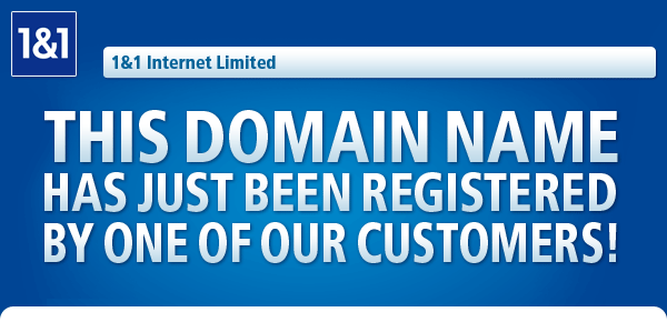 THIS DOMAIN NAME HAS JUST BEEN REGISTERED OF OUR CUSTOMERS!